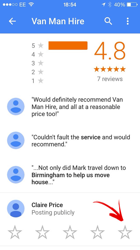 Google Plus Review Mobile Image